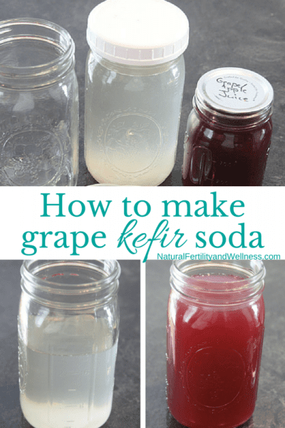 How to make grape kefir soda